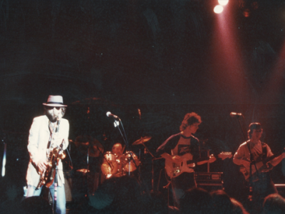 Ruedi, Ralph Burn sax, Walter Keiser drums, Phil Carmen and Mike Thompson, early eighties