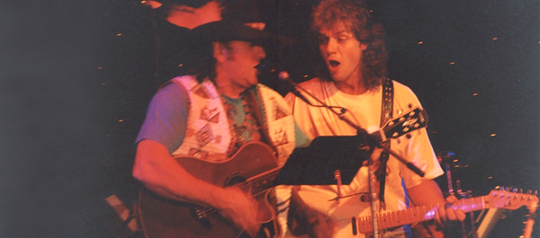 20 years after Phil played with the Apaches, Angi Burri joins Phill on stage for a few songs, Lucerne in the mid nineties