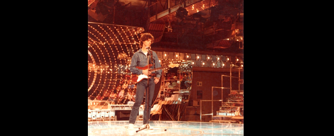 Phil at RAI UNO, early eighties