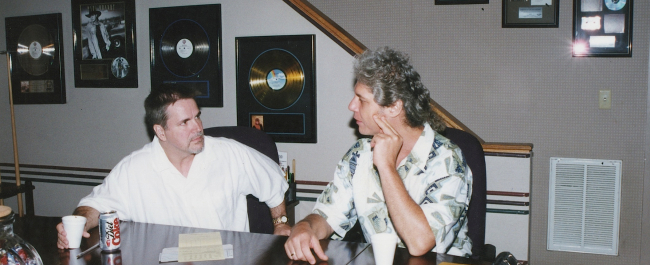 Phil producing in Nashville with Paul Franklin in the late Nineties