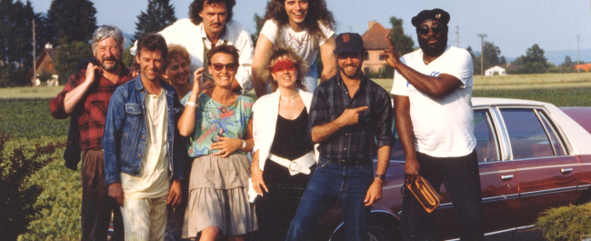 City Walls tour 1987: Dick Morrissey, Pick Withers, Steve Dawson, Sabine van Baaren, Lynn