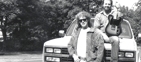 Jerry Donahue and Phil somewhere on the Deutsche Autobahn