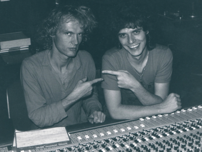 Late seventies, Peter McTaggart with Phil mixing