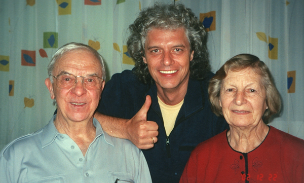 Phil with mentor and music teacher Ernst Irniger and Wife Agnes