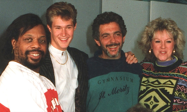Richard Tee, Steve, Steve Gadd and Lynn Chadwick in Phil's Studio, early nineties